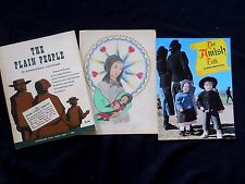 Vintage 1960's The Plain People / Amish Folk in picture/ Pencil Folk Art Drawing
