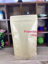 100X 150G Resealable Stand Up Pouch Coffee Bag Food Packaging  Kraft Paper Bag