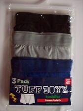 Tuff Boyz Underwear Underpants Three Boxer Briefs Sz 4Toddler Blk Blue Grey NIP