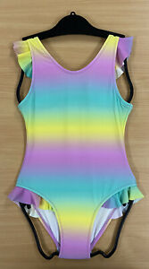 Flapdoodles Girls Rainbow Swimsuit Age 3/5/8 Beach Summer Pool Party Swimming