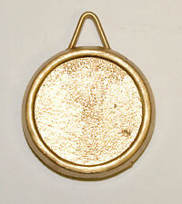 Pendulum Bob for a Mantle Clock, Gold Color with Raised Rim