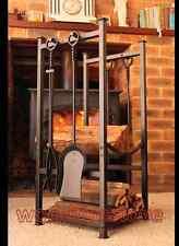 FIREPLACE ACCESSORIES Wood Racks-Log Holders-Firewood Storage-Tool Set FIRETOOLS