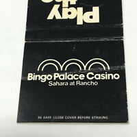 Vintage Matchbook Bingo Palace Casino Sahara At Rancho Las Vegas Advertisement