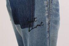 SAINT LAURENT Blue Logo Signature Denim Jeans Size 28