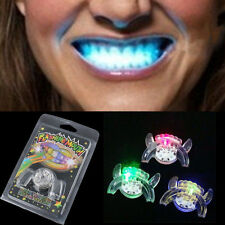 Flash LED Mouth Braces Light Up Piece Glow Teeth Halloween Party Tricky Cosplay