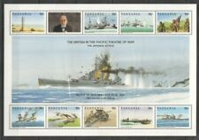 PK234 TANZANIA WORLD WAR II BRITISH IN THE PACIFIC OF WAR BATTLE 1KB MNH STAMPS