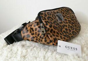 GUESS Leopard Print JUNCTION TRAVEL Bum Bag,  Travel Bag, Belt Waist Bag, New