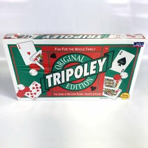 Vtg 1997 Cadaco TRIPOLEY Original Edition Game of Michigan Rummy, Hearts & Poker