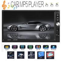 """7"""" 2DIN Dual Touch Screen per auto MP5 Player BT Stereo FM Radio USB+telecomando"""