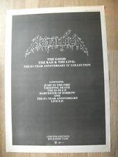 Metallica - The Good The Bad & the Live MUSIC PRESS ADVERT 16 x 11 INCH WALL ART