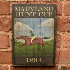 "Medium Reproduction ""Maryland Hunt Cup"" - Original Art - Pub Tavern Sign"