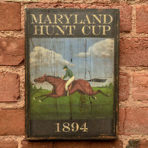 "Medium Reproduction ""Maryland Hunt Cup"" - Original Art - Pub Tavern Sign"