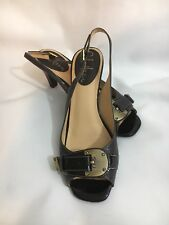 WOMENS COLE HAAN SLINGBACKS HEELS SIZE 6B BROWN LEATHER #110