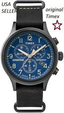 TIMEX TW4B04200 Men's Expedition Chronograph Leather Watch Indiglo Date USA SELL