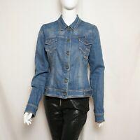 Dolce & Gabbana Womens Denim Jacket Blazer Blue