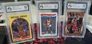 Michael Jordan Card Lot Graded psa 9 psa 8