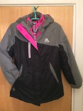 Girl's zeroXposur 3-in-1 System All Weather Jacket Grey Black Pink