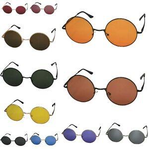 Big Oversized Round 50mm Lens Sunglasses UK John Lennon Hippy Boho Retro Vintage