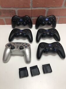 6 Logitech PlayStation2 PS2 Cordless Action Wireless Controller Dongle Predator