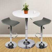 3 Piece Bar Table Set Bar Stools Counter Height Dining Chairs Kitchen Pub Bistro