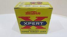 Vintage Western Xpert Shotgun Shell Super Target Load 12ga Empty Ammo Box Xt12M8