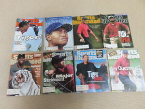 8 Sports Illustrated magazines Tiger Woods Golf covers Rookie 96 +6 + Masters