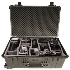Trolley Outdoor Case Kamerakoffer Fotokoffer m. Polstereinsatz 55x34x22cm -61742