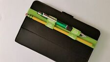 BOOK BAND PEN/ PENCIL HOLDER  LOOPS ELASTIC (GREEN) STRAP - 1 FOR $3.98 & 1 FREE