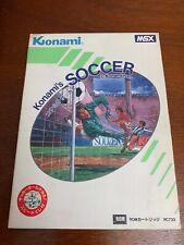 Japanese Import MSX Konami Soccer. Complete in box, tested, works!