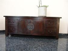 Cabinet Cupboard TV Unit Stand Living Room Colonial Sideboard Brown Teakwood