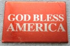 God Bless America Script Silver Plate New Usa Lapel, Hat or Tie-tac Pin With