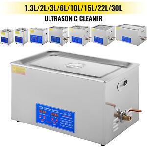 VEVOR Vaschetta Vasca Ultrasuoni Lavatrice Pulitore ad Ultrasuoni 1.3L-30L
