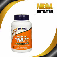 NOW Foods 8 Billion Acidophilus & Bifidus 120 Veggie Capsules | Digestion