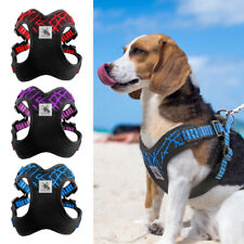 Step-in Durable Nylon Dog Harness Vest for Pitbull Soft No Pull Walking Harness
