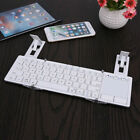 Foldable pocket Bluetooth Keyboard w/ Touchpad for Smartphones & Tablets, iPhone