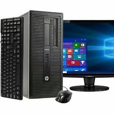 "HP Pro Desk Desktop Computer PC Core i5 16GB RAM 2TB HDD Windows 10 WIFI 22"" LCD"
