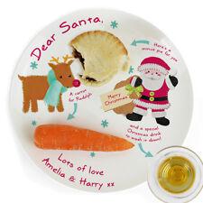 Placa Personalizada Nochebuena Santa y Rudolph Mince Tarta golosinas