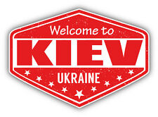 "Kiev City Ukraine Grunge Travel Stamp Car Bumper Sticker Decal 5"" x 4"""