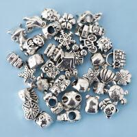 38er pack Tibetische Silber Korne Spacer Perlen Charms Beads Metallperlen