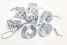 9 Crystal Jewel Acrylic Diamond Hanging Christmas Tree Decorations Bauble Xmas