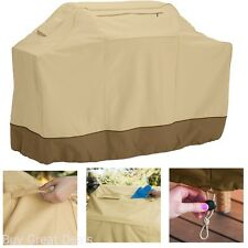 Bbq Grill Cover Tarp Waterproof Outdoor Heavy Duty Canvas All Weather - Medium