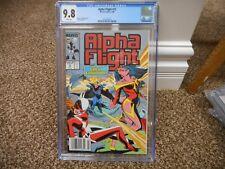 Alpha Flight 72 cgc 9.8 Marvel 1989 UPC NEWSSTAND variant cover WHITE pgs MINT