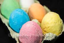 Mixed Egg Bath Bombs - (12x50g) UK ✔️Handmade Easter Eggs ✔️UK Seller