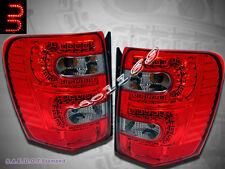 99-04 JEEP GRAND CHEROKEE LED TAIL LIGHTS RED/ SMOKE 1999 00 2001 2002 2003 2004
