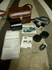 Vintage Yashica Electro 35 Gsn Film Camera W/ Multiple Accessories and Hard Case