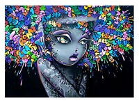 painting Art HD Print Banksy Framed Canvas Street graffiti Urban funky girl