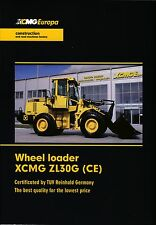 XCMG ZL30G 2015 catalogue brochure loader chargeuse English