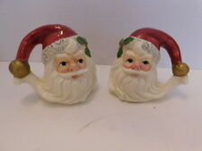 Vintage Santa Face Salt And Pepper Omnibus Fitz And Floyd