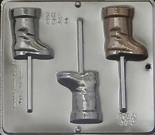 Santa's Boot Lollipop Chocolate Candy Mold Christmas  2043 NEW