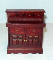 DRY SINK DELUXE MAHOGANY #817 DOLL HOUSE FURNITURE MINIATURES